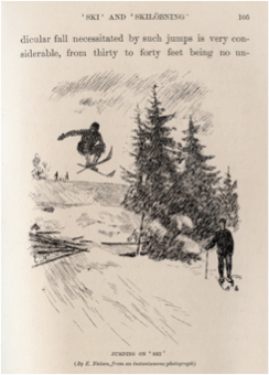 Circa 1873 - Illus. showing a Norwegian jumper, poleless