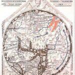 Illustration of 1280 Hereford map of Richard de Hollingham