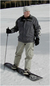 2009 - Photographs from Web search showing Snowboarding folding / retractable poles.
